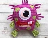 Blinky - Love Monster Crochet Pattern