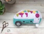 Kawaii Camper Amigurumi Crochet Pattern