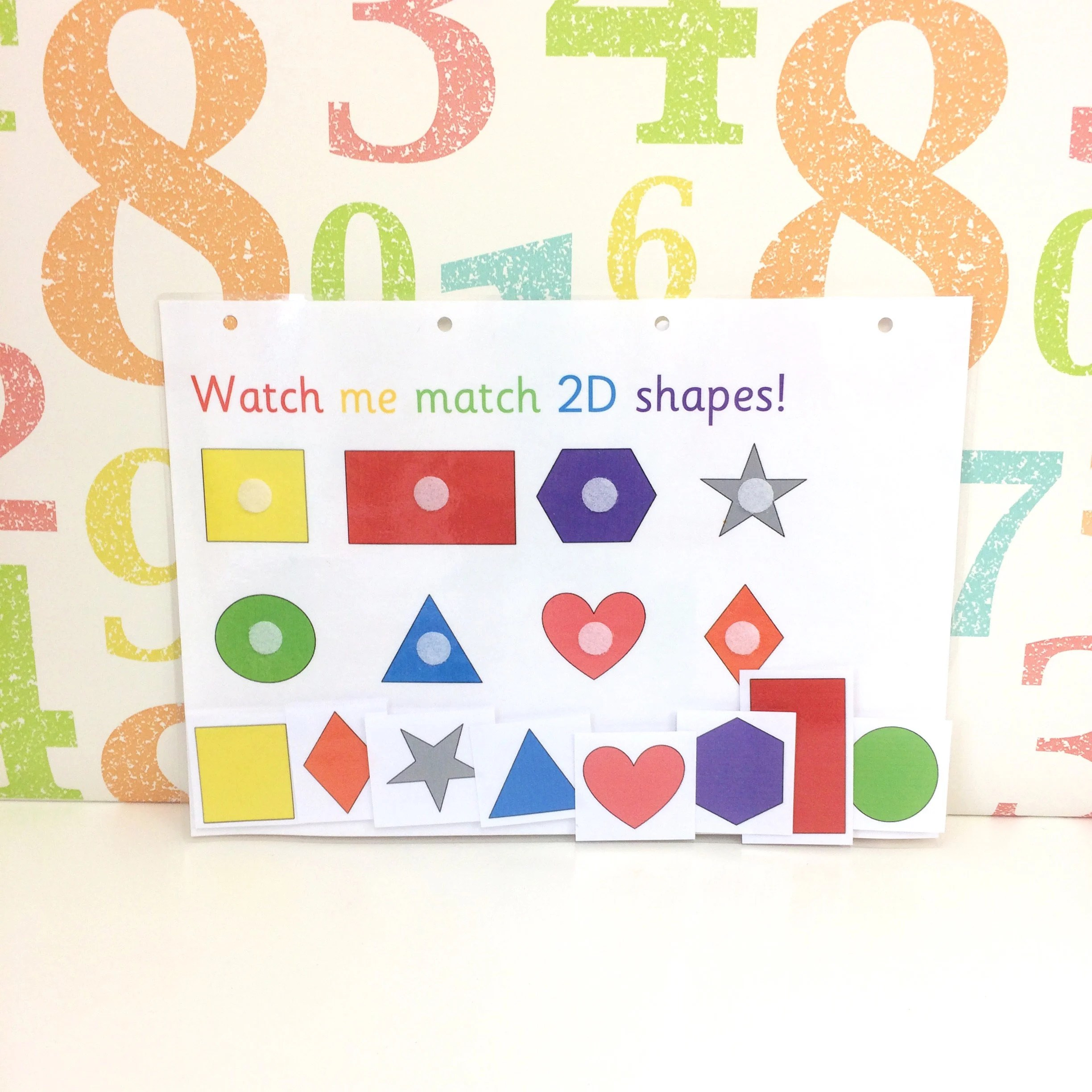 2d Shapes Matching Learning Sheet Eyfs Early Years Nursery