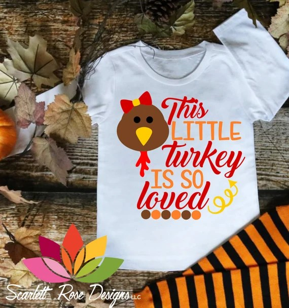 Download Thanksgiving SVG DXF This Little Turkey is so Loved Little ...