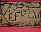 KEEP OUT! sign lichtenberg - medium