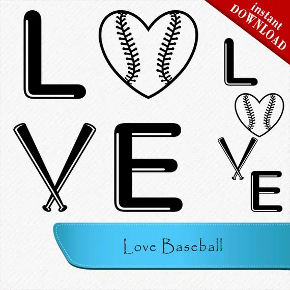 Download Love Baseball SVG baseball words svg love baseball | Etsy