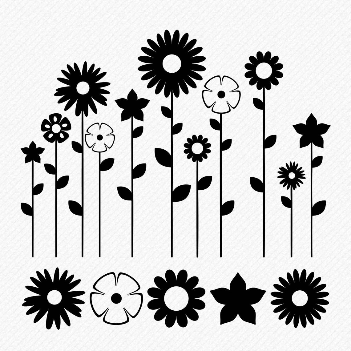 Download SVG Flowers SVG floral SVG Flower Garden Cricut Silhouette ...