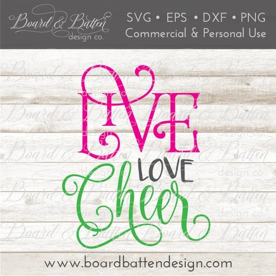 Download Cheerleading SVG Files for Silhouette Live Love Cheer Svg ...