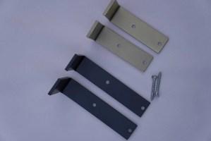 Metal Shelf Brackets Shelving Minimalist Easy Diy Flat Black Gold Metallic Comes With Hardware