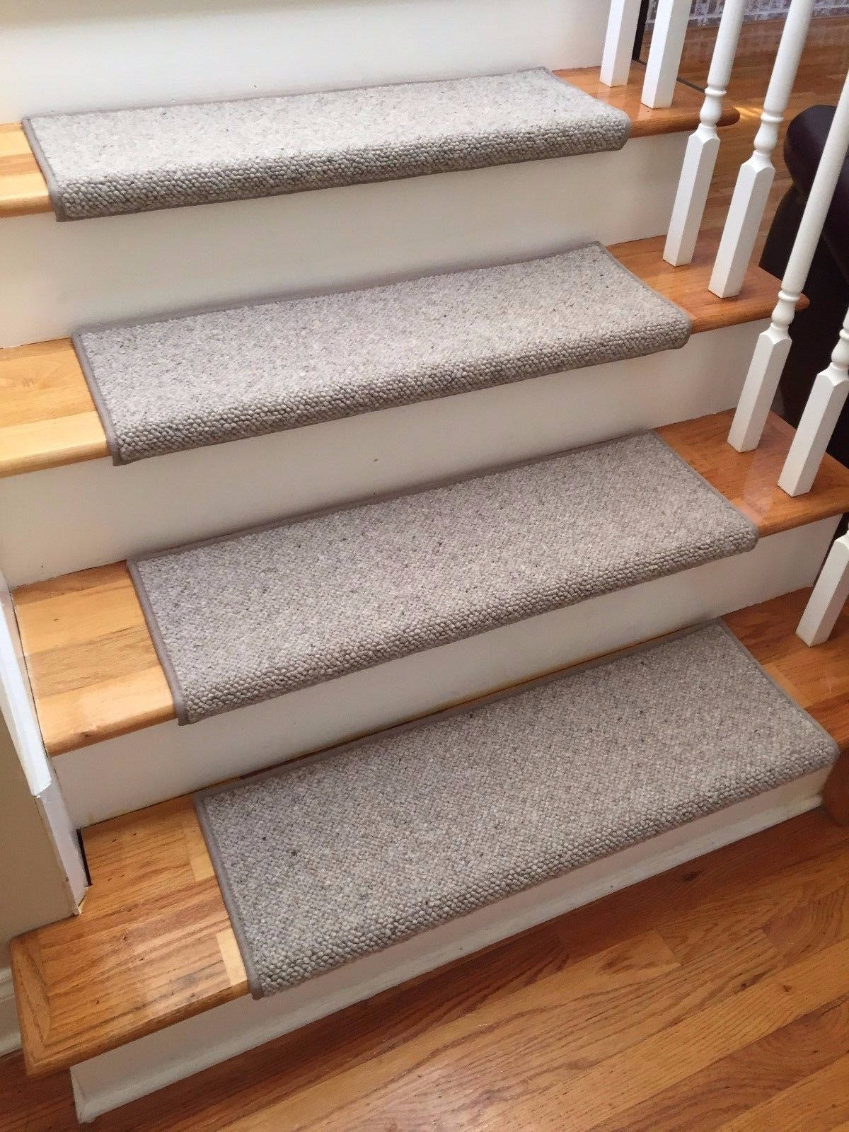 Alfa Stone 100 Wool True Bullnose™ Padded Carpet Stair Tread | Best Carpet Stair Treads | Rug | Mat | Treads Lowes | Bullnose Stair | Wood Stairs