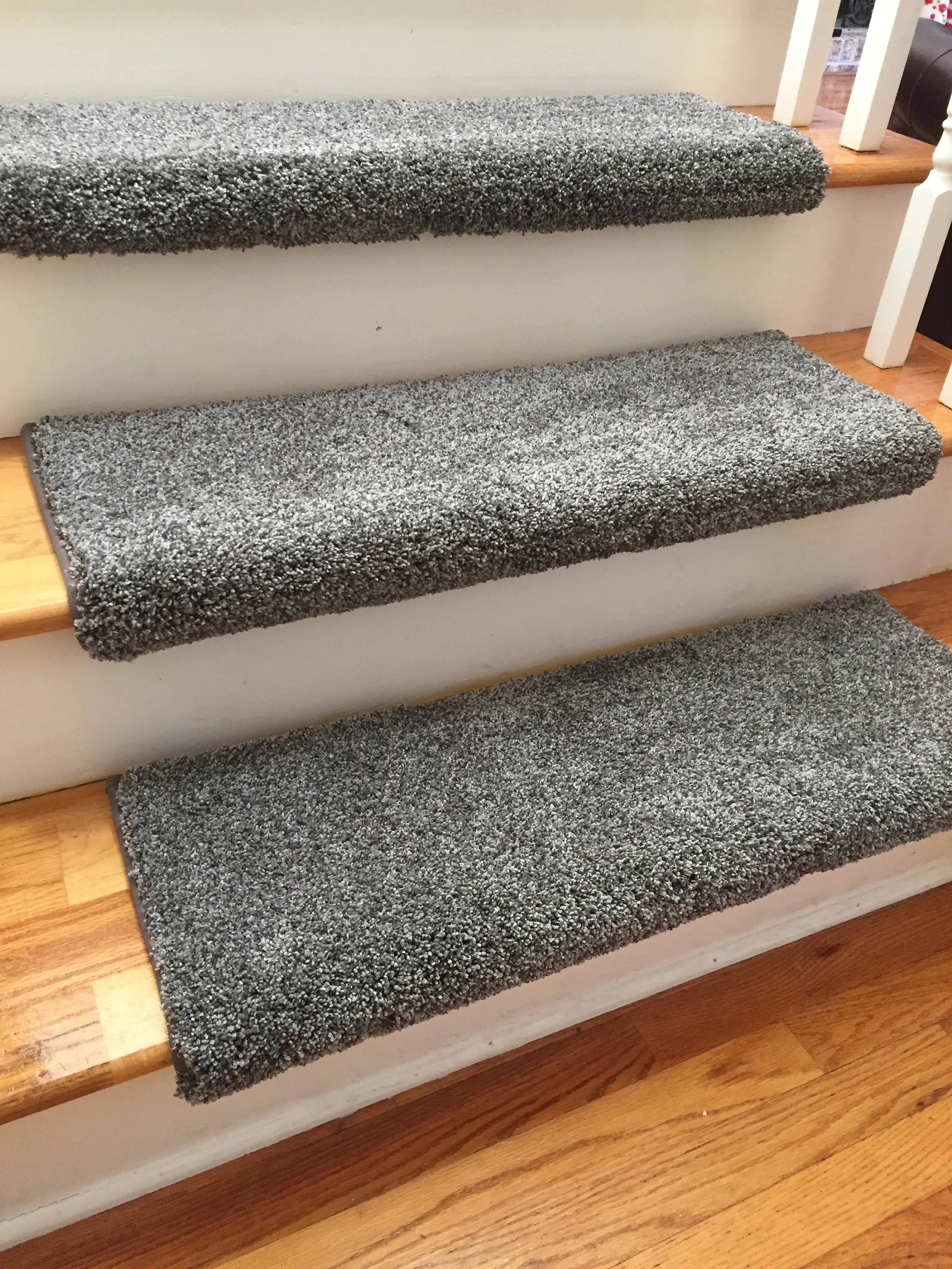 Dazzling Magma Grey Gray Plush Sh*G True Bullnose™ Padded Carpet | Grey Wood Stair Treads | Coloured | Marble | Low Cost | Gray Color | Porcelain