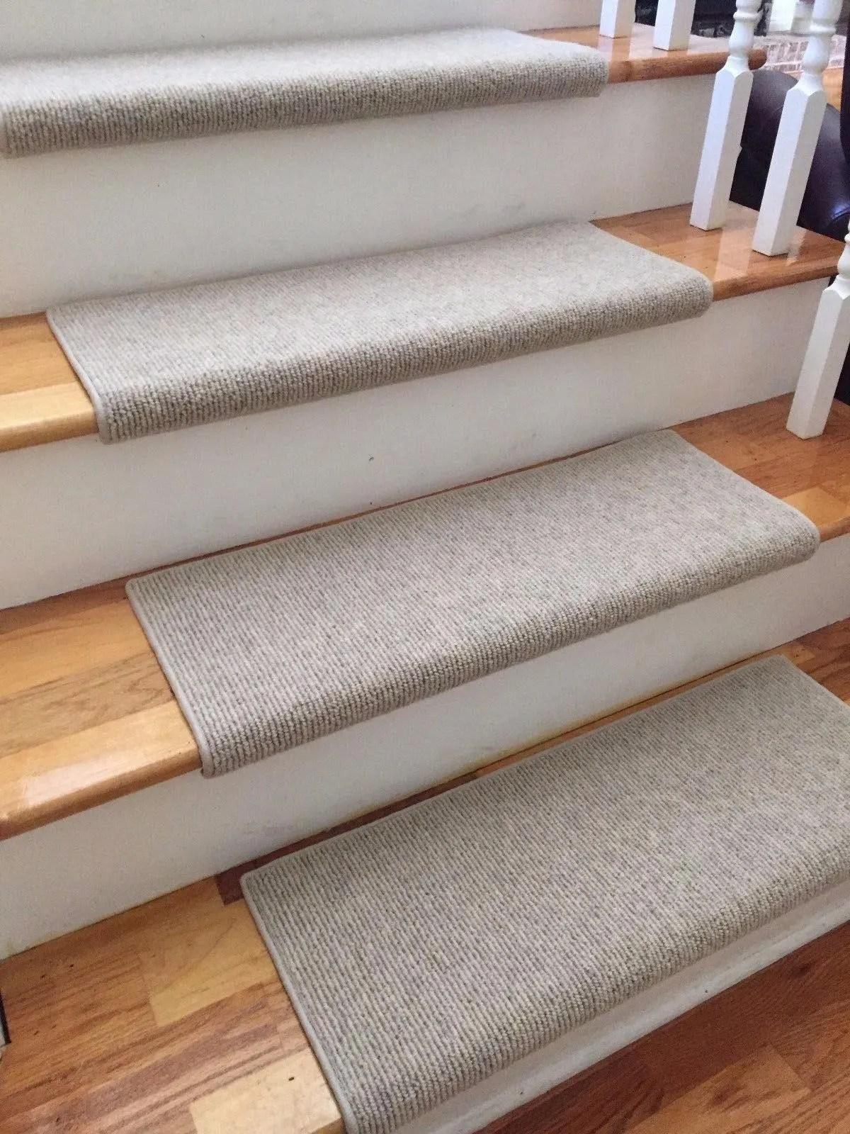 Morocco Wheat 100 Wool True Bullnose™ Padded Carpet Stair Tread   Stair Step Carpet Runners   Hallway Carpet   Walmart   Flooring   Non Slip Stair   Wall Carpet