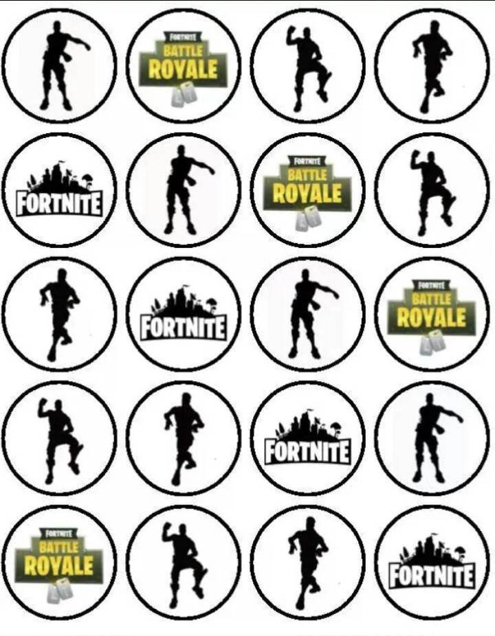 Free Printable Fortnite Cupcake Toppers