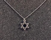 Magen David (Star of David) Pendant on Stainless Steel Chain Necklace - Judaica Jewelry