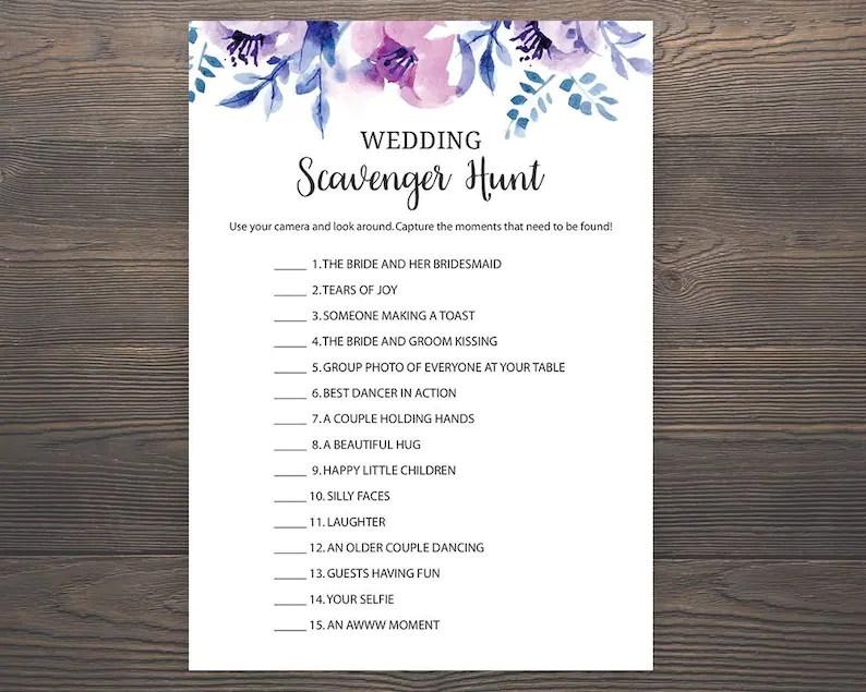 List Scavenger Bachelorette Printable Hunt