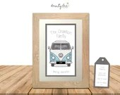 VW CAMPER VAN Personalised Printed Picture Gift. Framed Art • Wedding, Engagement, Birthday, Family • Options Available