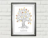 Finger Print Tree for Wedding. Alternative Guest Book. Print at Home Digital PDF. Download Gift. Any A Size.