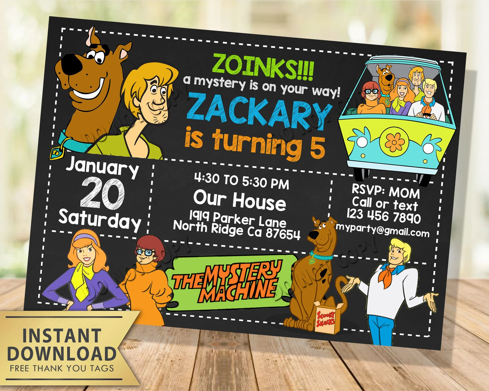 scooby doo invitation instant download scooby doo birthday invitation chalkboard scooby doo invite evite editable scooby invitation pdf