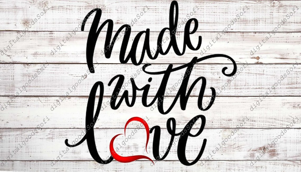 Download Made With Love SVG File Made With Love Svg Design Cutting ...