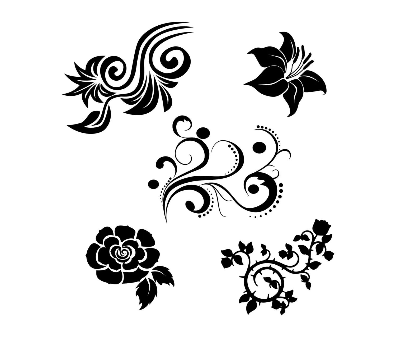 Flower Svg Bundle Vector Art Clipart Cut Files For Cricut