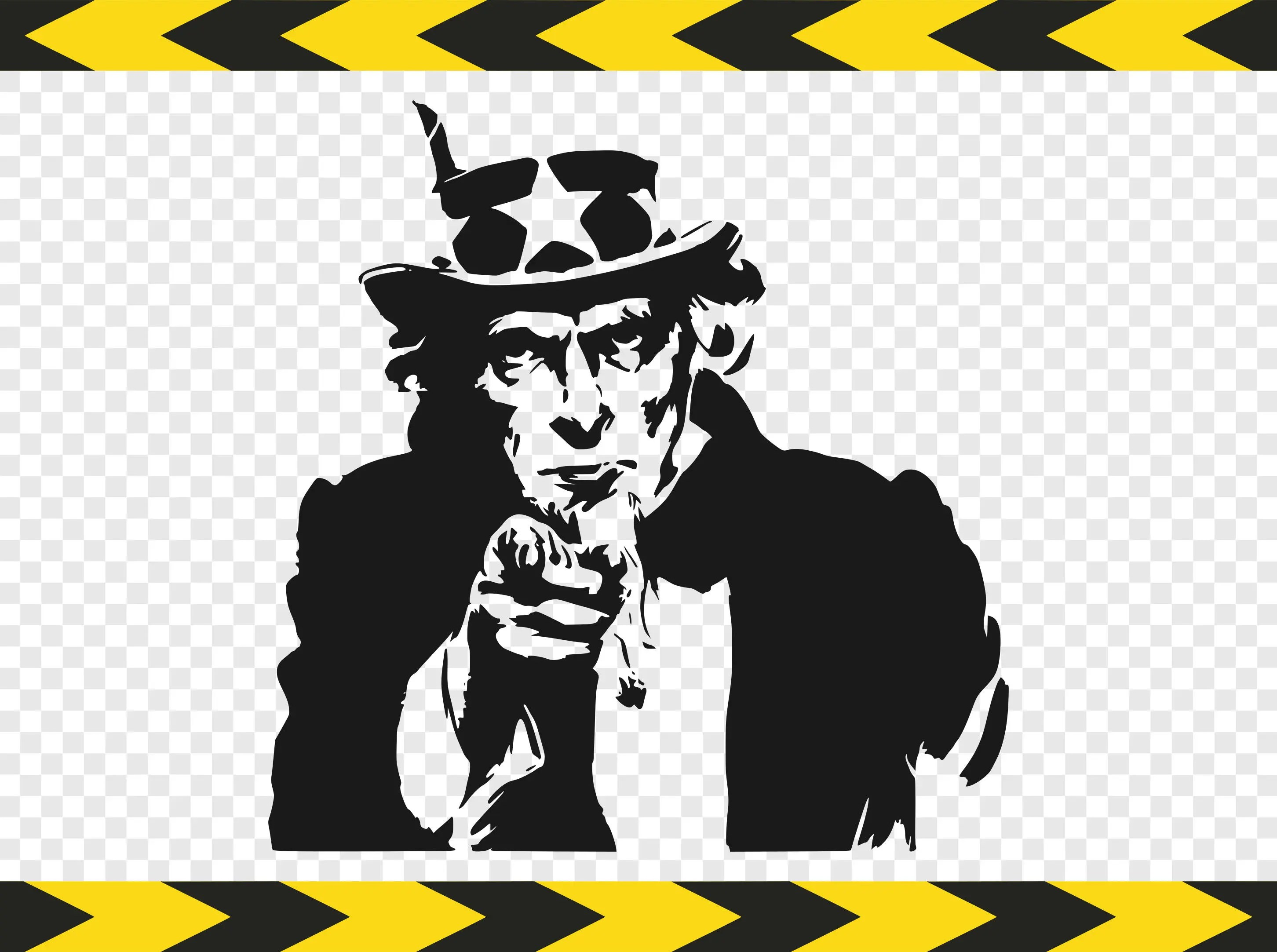 Uncle Sam Svg Decal Printable Us Army Silhouette Pictures