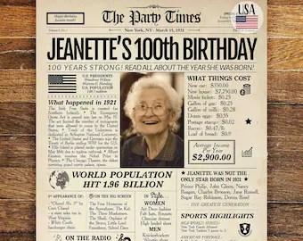 100th birthday etsy