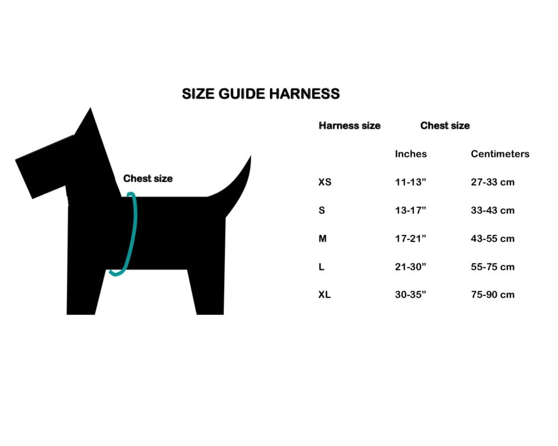 Xs S Summer Chic Dog Harness Woven Herring Bone Pattern