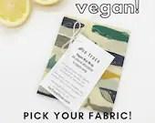 Organic cotton vegan wax wrap - Kitchen wrap. Bowl cover. Plant based. Pick your fabric. NO SOY WAX. Zero waste wax wrap. Eco-friendly.
