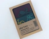 Organic cotton beeswax wrap - 2 pack - starter pack.  Reusable kitchen wraps.  Bike & Octopus print.  Zero waste living.  Sandwich wrap.