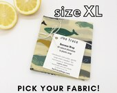 Organic cotton beeswax wrap - extra large bread wrap, dish cover, casserole cover.  Lots of fabric choices.  Zero waste kitchen wrap