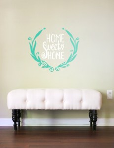 Home Sweet Home Wall Decal Living Room Decal Living Room Wall Art Family Decals Family Wall Decor Wall Art Wall Designs Wall Stickers