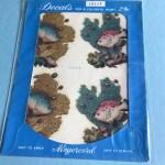 Vintage Fish Wall Decal 1950s Meyercord Retro Bathroom Wall Decor Stickers
