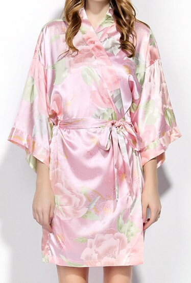 Personalized Floral Satin Robe Robes Christmas Gift for Wife image 9
