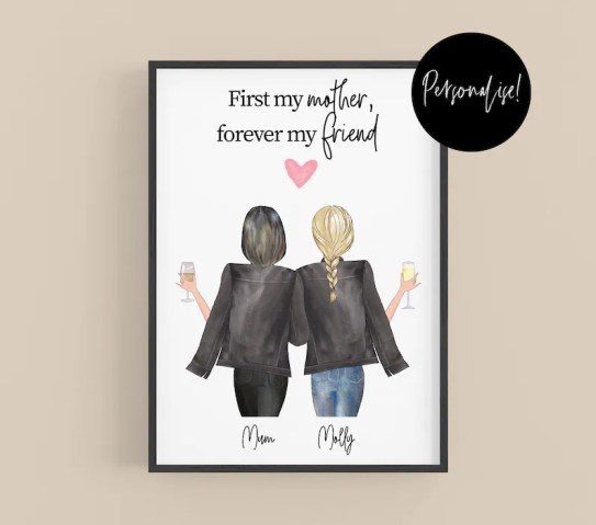 Personalised Mothers Day Gift Mum Gift Family Portrait Gift image 0