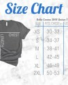 Bella Canvas Size Chart Mockup 3001 Unisex Crewneck Heather Etsy