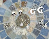 Silver Halloween Dangle Earrings