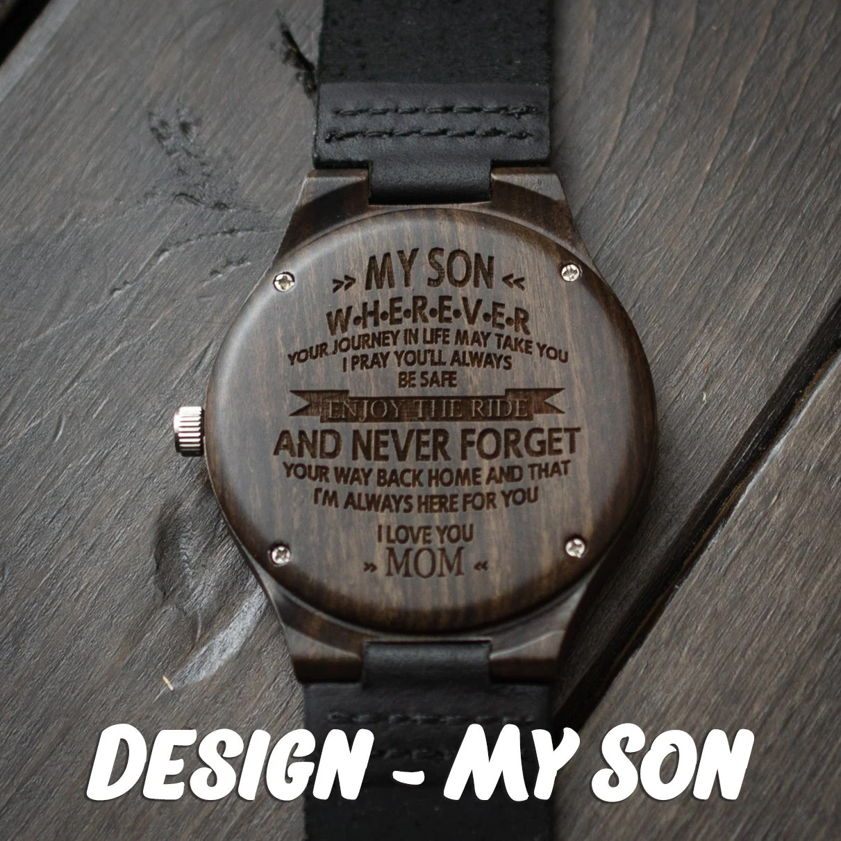 Engraved Wooden Watch for Men Anniversary Gifts for Boyfriend image 3