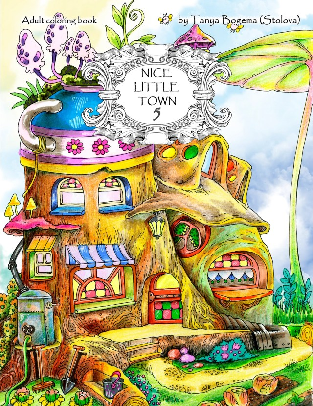 Nice Little Town 28 (Adult Coloring Book, Coloring pages PDF, Coloring Pages  Printable, For Stress Relieving, For Relaxation)