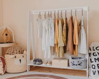 kids clothes rack etsy