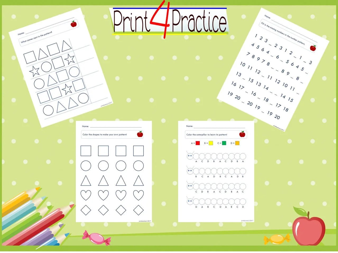 Pattern Practice Pattern Worksheets Practice Worksheets