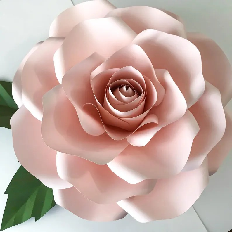 Download Paper Flowers SVG New Large Rose Template DIY Cricut and ...