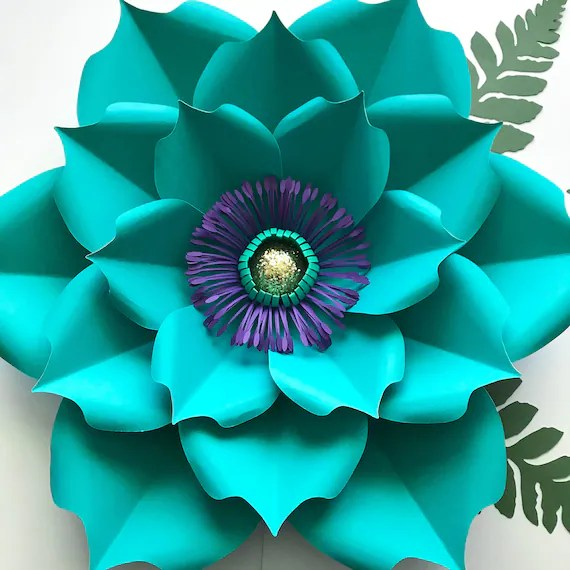 PDF Petal 5 Paper Flower Template Printable For Trace And Cut Etsy