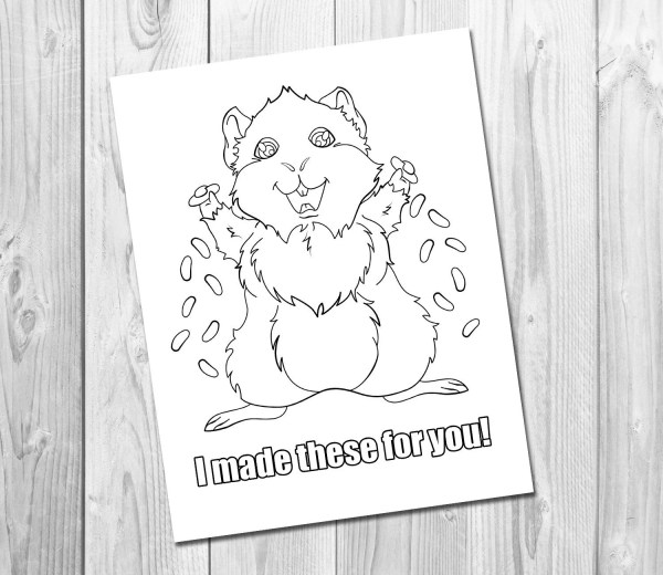guinea pig coloring page # 48