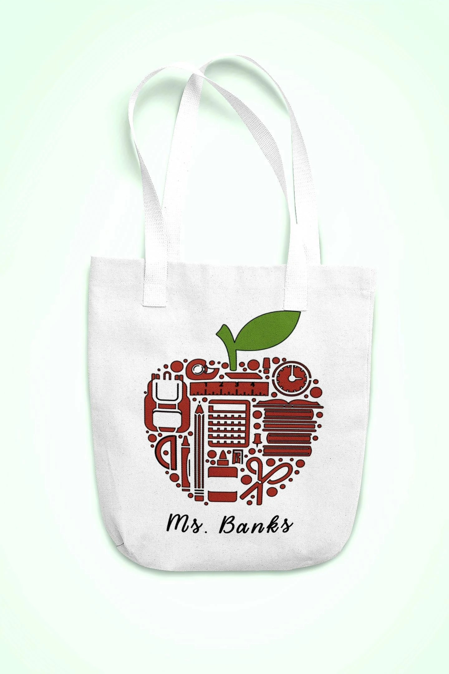 Personalized canvas tote bag for teachers gifts for teacher image 2