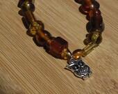 Owl Charm Bracelet, Owl J...