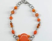 Jupiter Orange Handmade Beaded Bracelet
