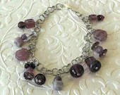 Purple Beaded Dream Charm Bracelet