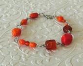 Orange Dream Beaded Bracelet