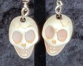 Skull Skeleton 3D Dangle Earrings