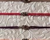 Simple Floral Charm Hemp Bracelet Color Set