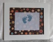 Flashback Floral Boy or Girl Baby Feet Cross Stitch Nursery Wall Decor