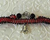 Spider Charm Bracelet, Bl...