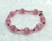 Pink Orbs Bracelet, Pink Jewelry, Gifts for Her, Gifts for Mom, Unique Gifts