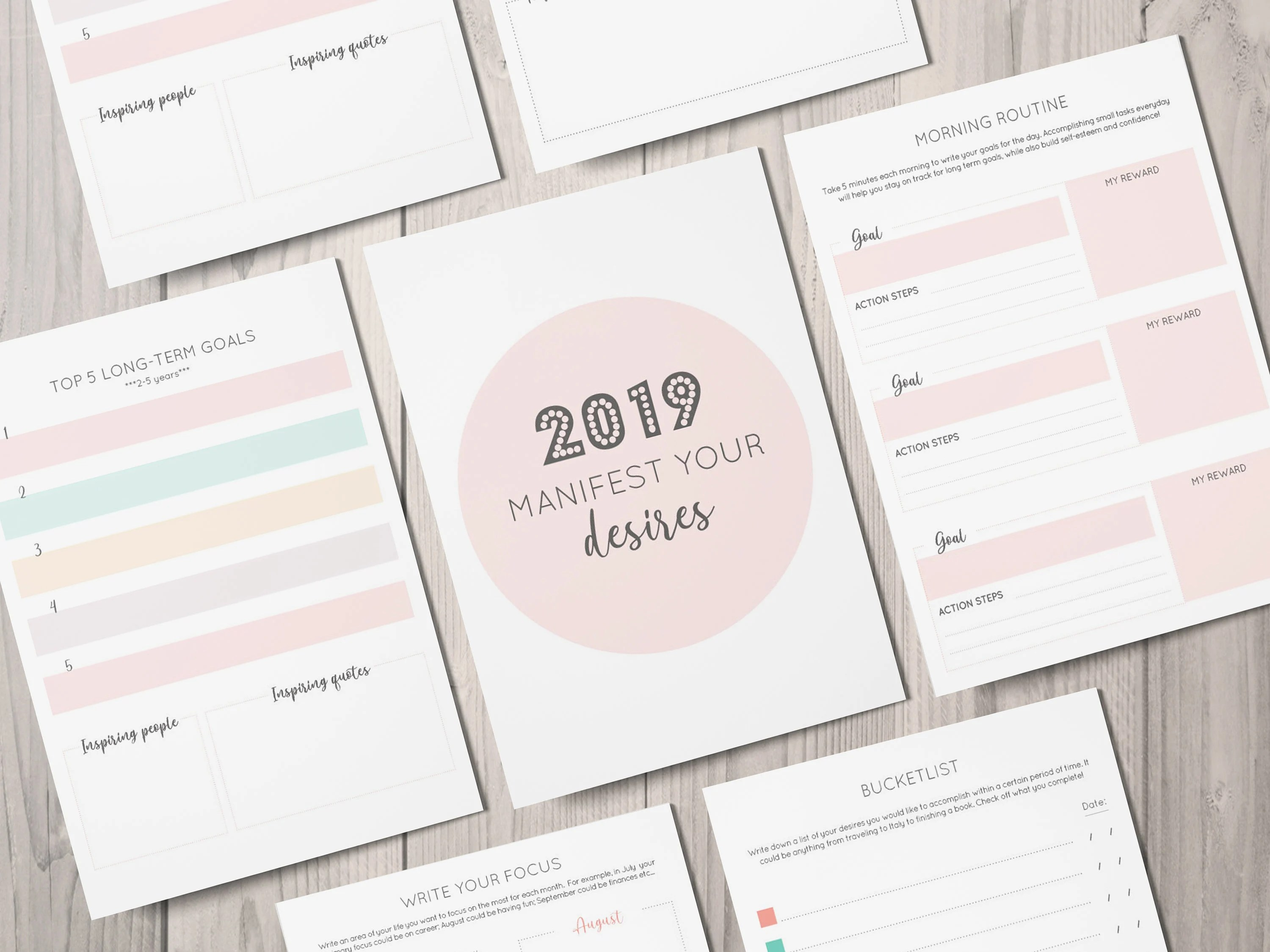 Ideal Life Planner Law Of Attraction Printable